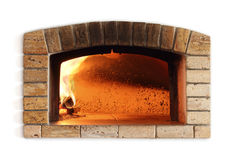 Forno tradicional do fogo para a pizza Fotografia de Stock Royalty Free