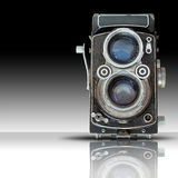 Fornt of Old twin lens reflect camera Stock Photography