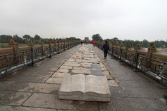 Forntida överbrygga av Kina Royaltyfri Foto