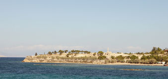 Forntida Aegina panorama Royaltyfria Bilder