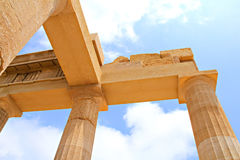 Forntida akropol i Rhodes, Grekland Fotografering för Bildbyråer