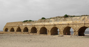 forntida akvedukt Royaltyfri Bild