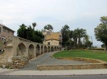 Forntida akvedukt i Nicosia Arkivbild