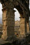 forntida amfiteater royaltyfri bild