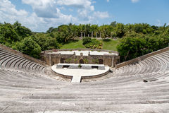 Forntida amfiteater i Alt de Chavon, Dominikanska republiken Royaltyfria Foton