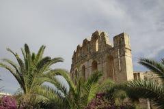 Forntida amfiteater, Tunisien, Afrika Royaltyfria Bilder