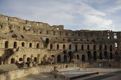 Forntida amfiteater, Tunisien, Afrika Arkivbilder