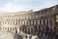 Forntida amfiteater, Tunisien, Afrika Royaltyfri Fotografi