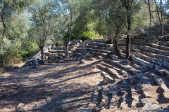 Forntida amphiteatre arkivbild
