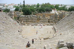 Forntida Amphitheater i Myra Royaltyfria Foton