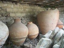 Forntida amphorae Royaltyfria Foton