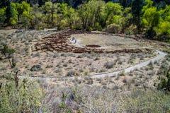 Forntida Anasazi fördärvar i Bandelier den nationella monumentet som är ny - Mexiko fotografering för bildbyråer