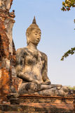 Forntida antika Buddhastatyer Arkivbilder