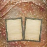 Forntida använd bakgrund i scrapbooking stil med gammal ar Royaltyfria Bilder