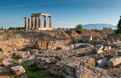 forntida apollo fördärvar tempelet Royaltyfri Foto