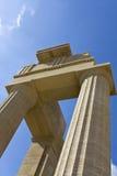 forntida apollo rhodes tempel Royaltyfria Bilder