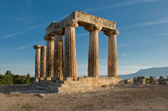 forntida apollo tempel Arkivbilder