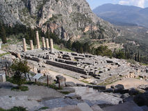 forntida apollo tempel Arkivfoton