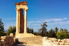 forntida apollo tempel Limassol område cyprus Royaltyfri Foto