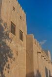 Forntida arabisk byggnad Arkivfoto