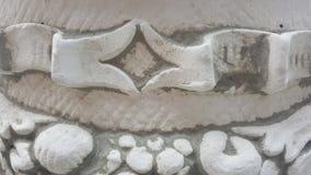 Forntida arkitektoniska detaljer på statyn arkivfoto