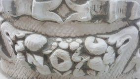 Forntida arkitektoniska detaljer på statyn arkivbilder