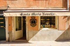 Forntida arkitektur av den historiska mitten av Venedig, San Marco Det Arkivbilder
