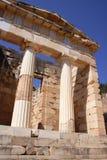forntida arkitektur delphi greece Royaltyfri Bild