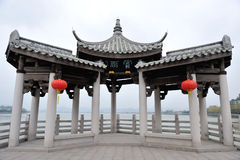 Forntida arkitektur för kinesisk guangjiqiao Arkivfoto