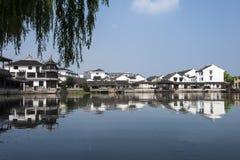 Forntida arkitektur för Suzhou lönn Royaltyfri Fotografi