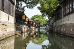 Forntida arkitektur för Suzhou lönn Royaltyfria Foton