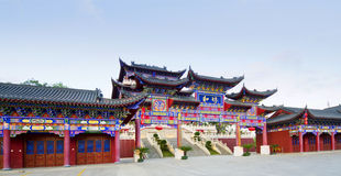 forntida arkitektur som baoting hainan Royaltyfri Bild
