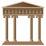 forntida arkitekturgrekvektor royaltyfri illustrationer