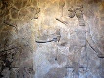 forntida assyrian lättnad Arkivbild