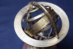 forntida astrolabium Arkivfoto