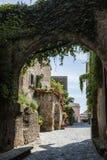 forntida by av Civita di Bagnoregio Fotografering för Bildbyråer
