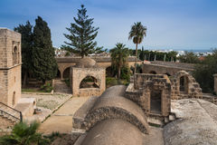 Forntida Ayia Napa kloster Cypern Fotografering för Bildbyråer