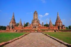 forntida ayutthayatempel thailand Royaltyfri Bild