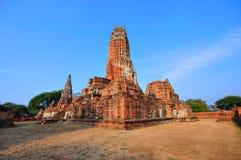 forntida ayutthayatempel thailand Royaltyfria Bilder