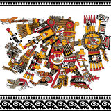 Forntida Aztec gud Arkivbild