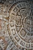 forntida aztec kalender Arkivbild