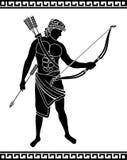 Forntida bågskytt royaltyfri illustrationer
