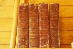 forntida böcker Arkivfoto