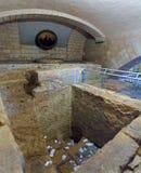 Forntida bad av Sts Joseph kyrka i Nazareth Royaltyfri Foto