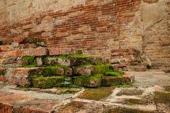 forntida bakgrundstegelsten Arkivbilder