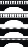forntida balustradbro Arkivfoto