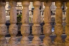 Forntida barocka kolonner Royaltyfri Fotografi