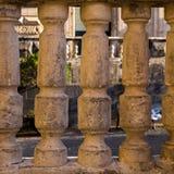 Forntida barocka kolonner Arkivbild