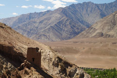 Forntida Basgo kloster i Ladakh, Indien Royaltyfria Bilder