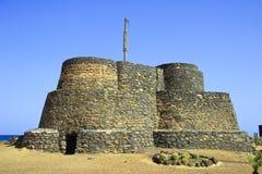 forntida befästningar fuerteventura Fotografering för Bildbyråer